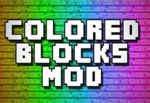 Flat Colored Blocks Mod for Minecraft 1.9/1.8.9/1.8 | MinecraftSide