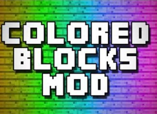 Flat Colored Blocks Mod for Minecraft 1.9/1.8.9/1.8 | MinecraftSide