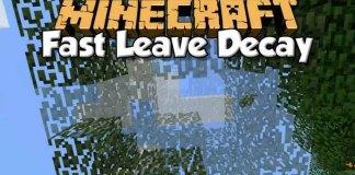 FastLeafDecay Mod for Minecraft 1.9/1.8.9/1.7.10 | MinecraftSide