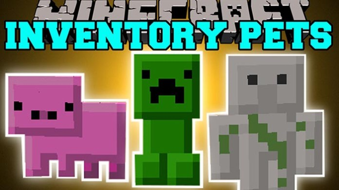 Inventory Pets Mod for Minecraft 1.10/1.9.4