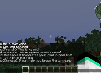 Real Time Chat Translation Mod for Minecraft