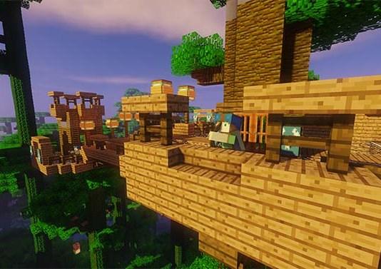 Jungle Warfare Map for Minecraft