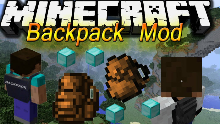 Backpacks Mod for Minecraft 1.8.7, 1.8.4, 1.8.3, 1.8.1, 1.7.10