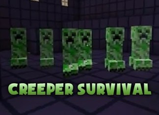 creeper survival map