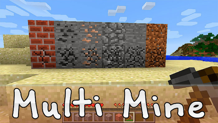 Multi Mine Mod for Minecraft 1 8 8/1 8/1 7 10 | MinecraftSix