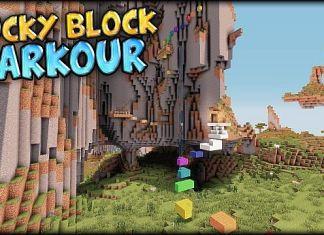 lucky block parkour map minecraft
