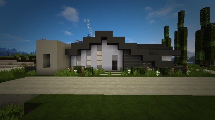 Modern home architecture minecraft