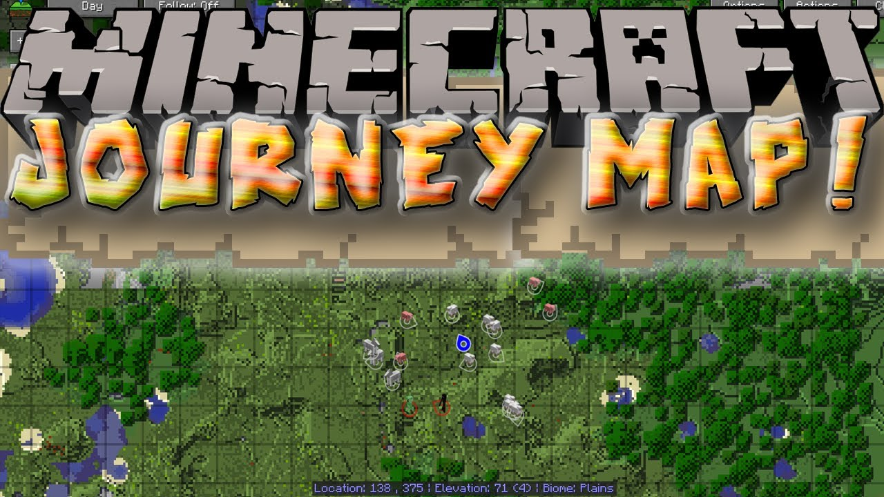 JourneyMap Mod For Minecraft MinecraftSix - Journey map para minecraft 1 10 2