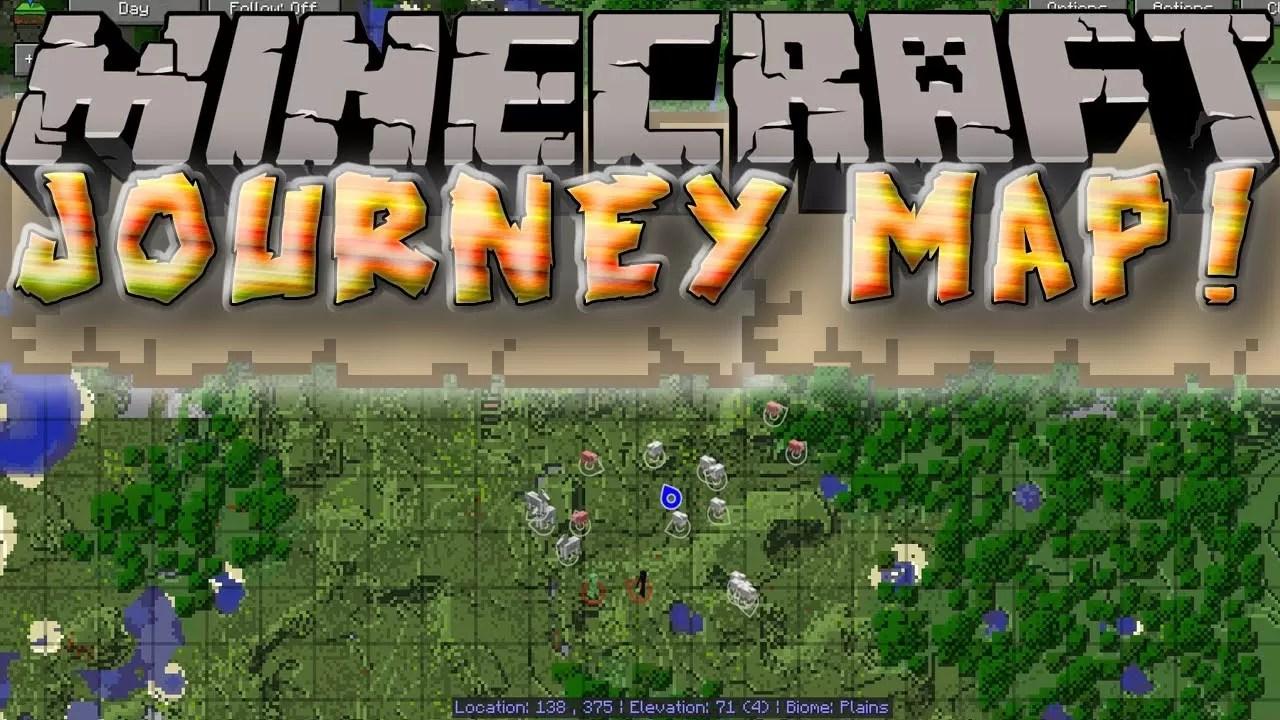 JourneyMap Mod For Minecraft MinecraftSix - Journey map para minecraft 1 10 2