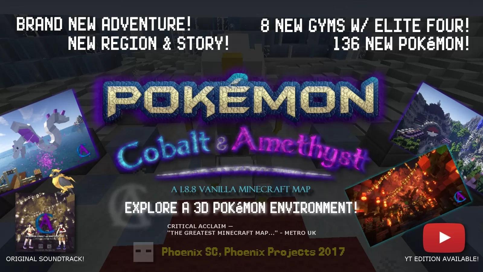 Pokémon Cobalt And Amethyst Map For Minecraft 1.8.8