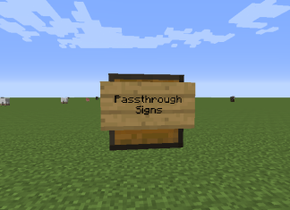 passthrough signs mod
