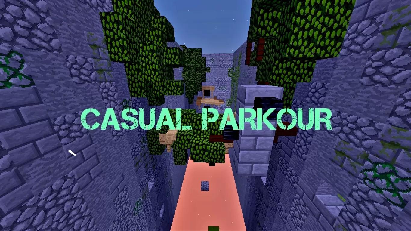 Casual Parkour Map For Minecraft MinecraftSix - Mapas para minecraft 1 10 2 de parkour