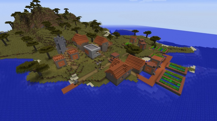 Minecraft Village Seeds 1112 Minecraft Seeds Wiki