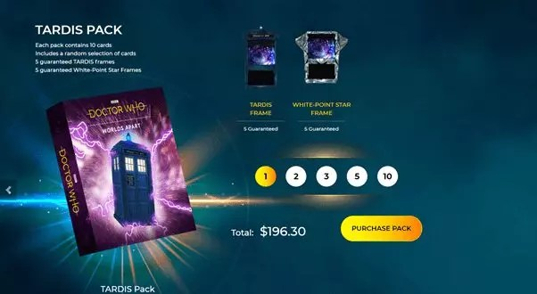 digital trading cards for Doctor Who