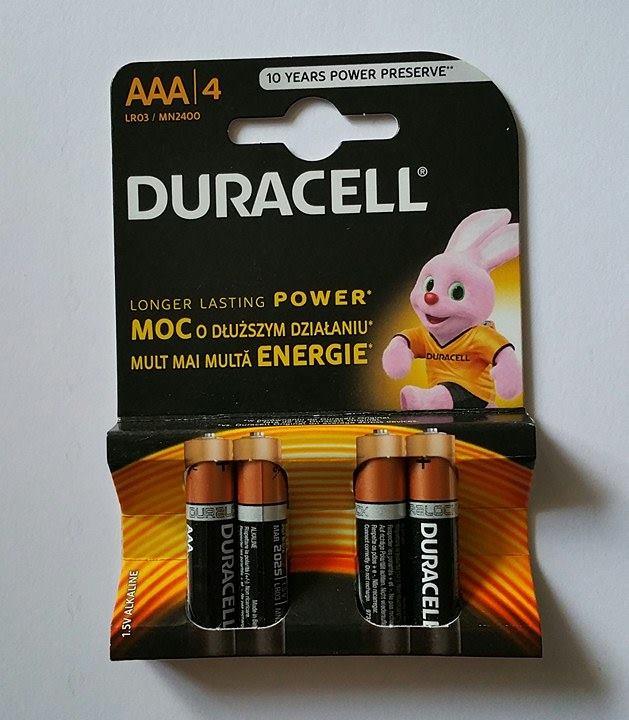4stk AAA batterier