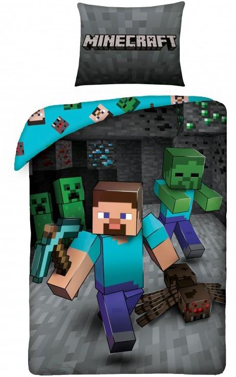 Minecraft Run sengetøj