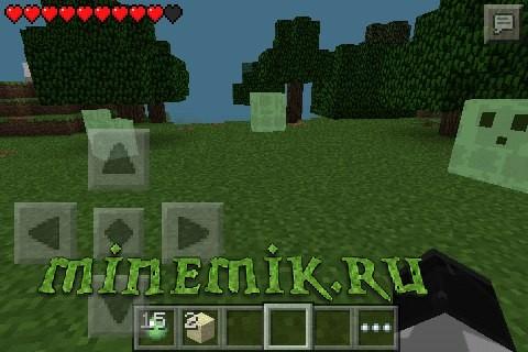 Мод на слизней для Minecraft PE