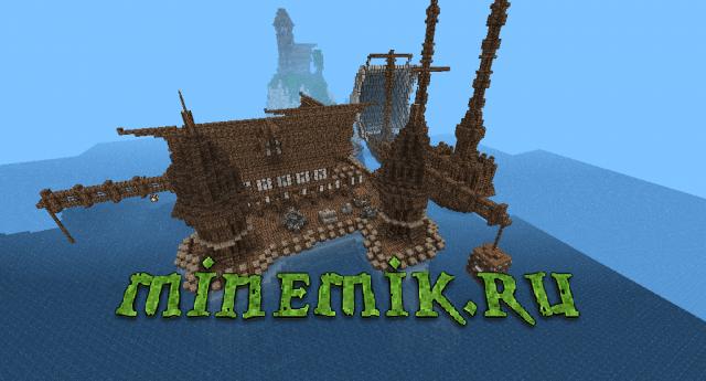 Красивая деревня на островах для Minecraft PE.