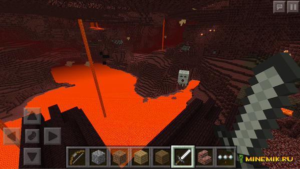 скриншот ада в minecraft pe 0.12