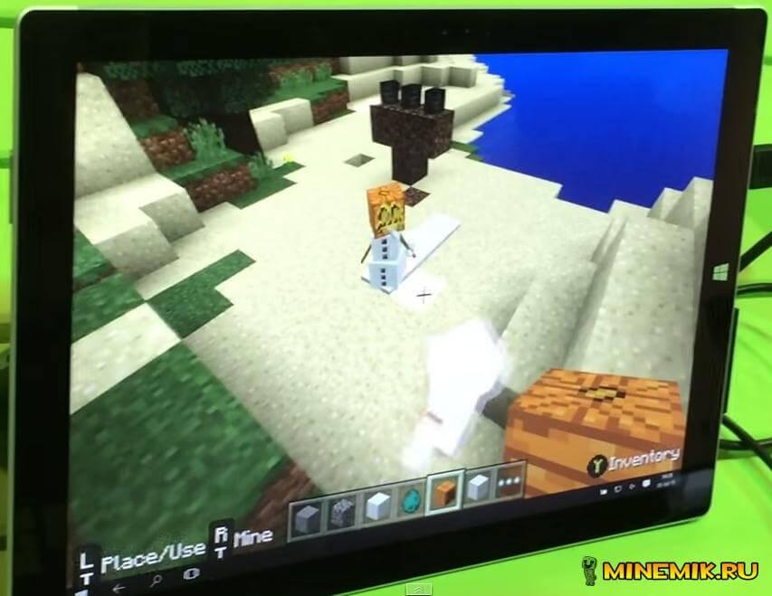 Снежный голем в новой версии