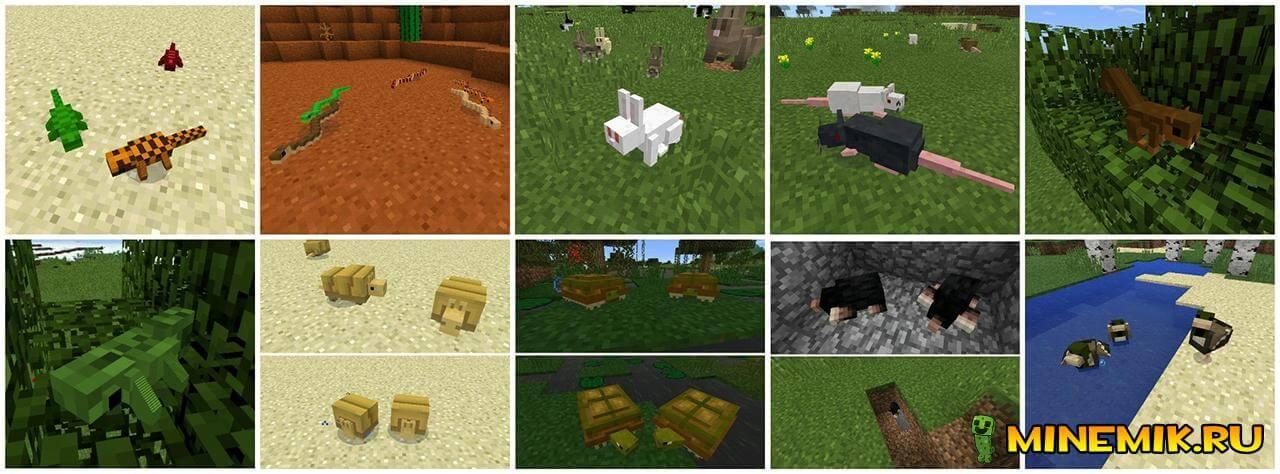 Мод на животных для Minecraft PE
