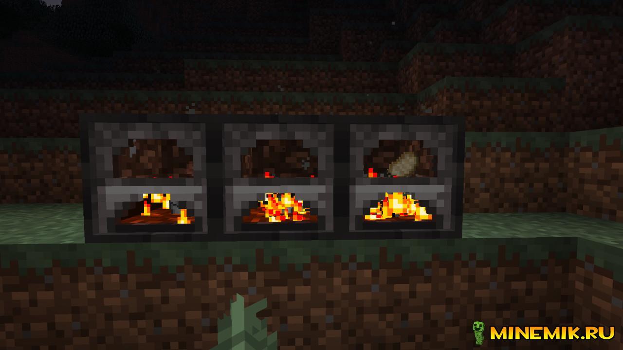 3D Furnace — мод для minecraft PC