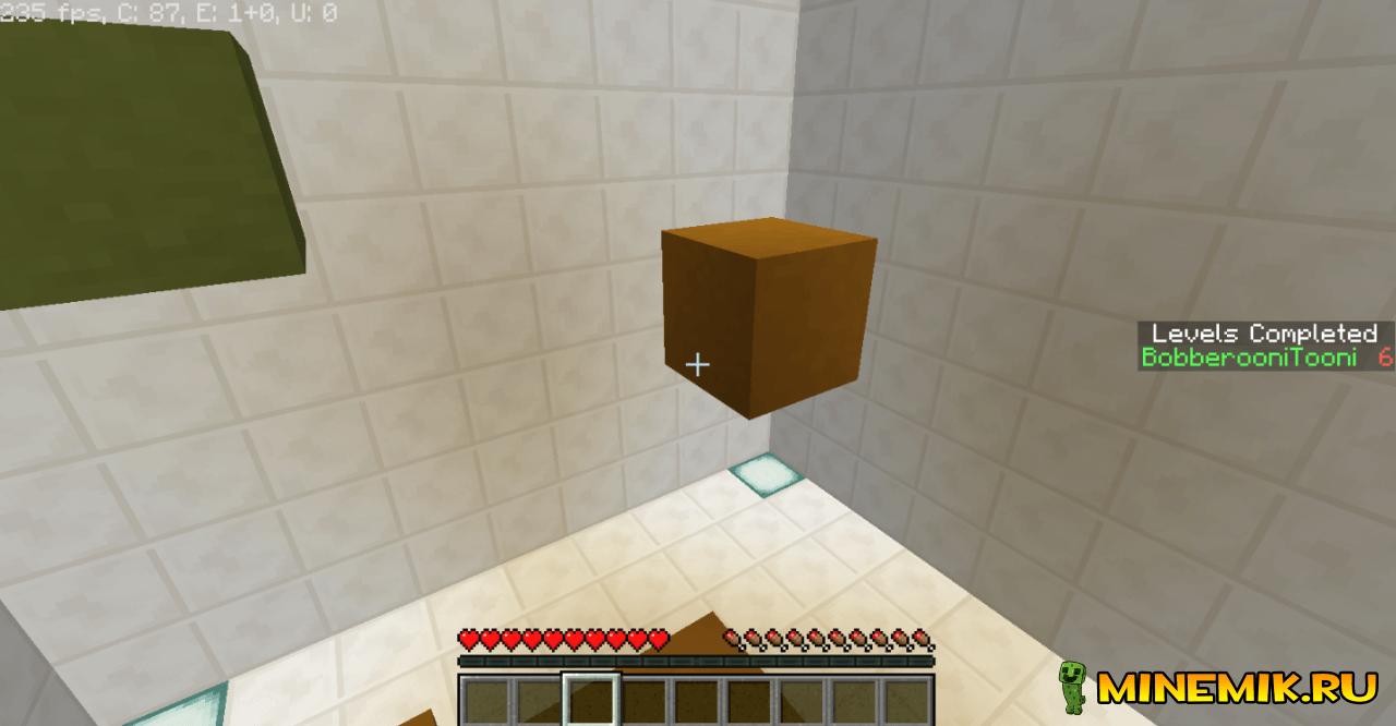 Crazy Cube — карта на паркур для minecraft PE