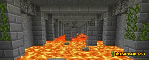 Карта Dungeons and Mineshafts для майнкрафт PE 0.13
