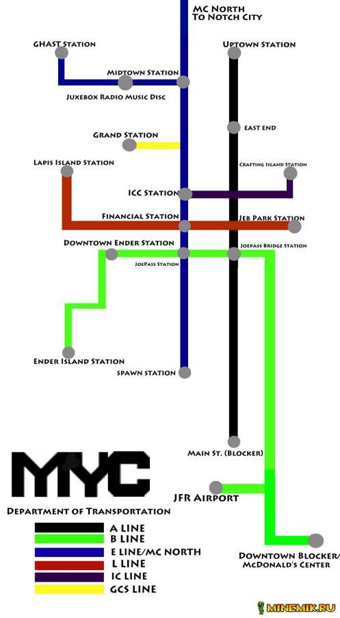 Карта Mine York City для minecraft PE