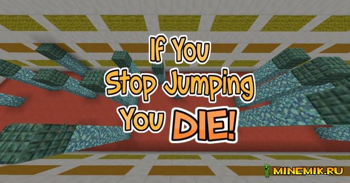 Карта Dont Stop Jumping для minecraft PC