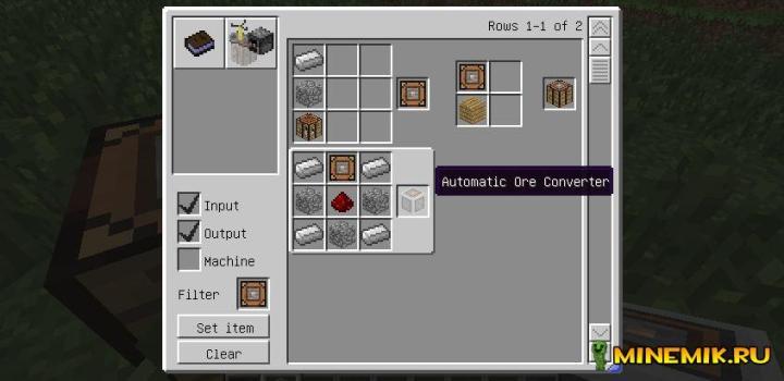 Мод Ore Dictionary Converter для minecraft PC