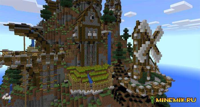 Карта The Rykene Village для minecraft PE