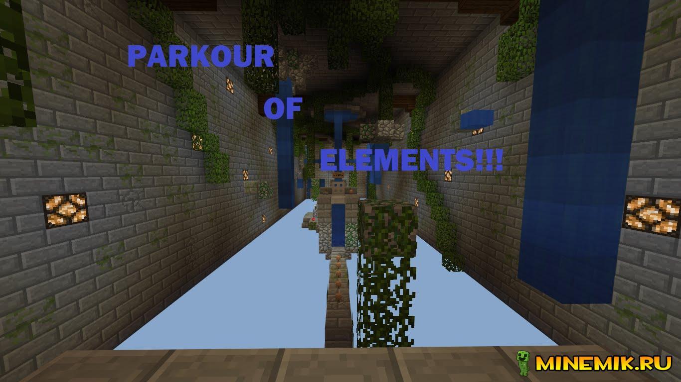 Карта Parkour of Elements для MCPE 0.14.x