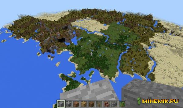 Высота мира в 256 блоков в Minecraft PE