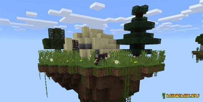 карты skyblock острова minecraft pe 1.0.0 #10