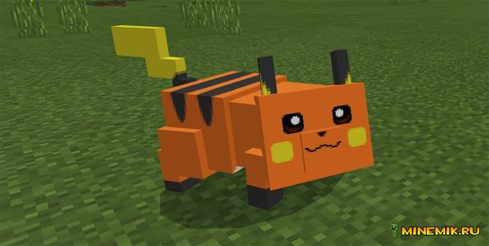 Аддон на Пикачу и Рейча для Minecraft PE