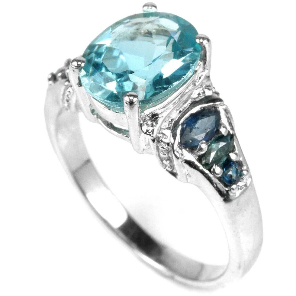 Bague Topaze London Blue
