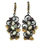 Boucles d'oreilles – Opale Rainbow, Grenat
