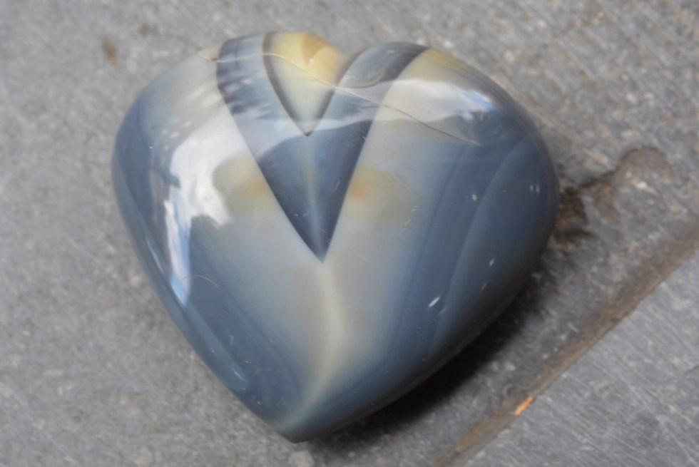 Cœur en Agate de Madagascar