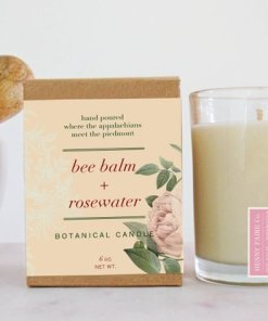 Bee Balm & Rosewater Botanical Candle