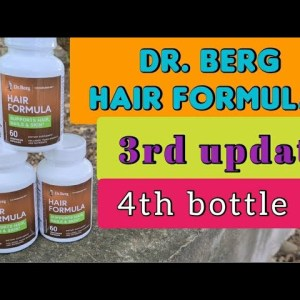 Dr. Berg Hair Formula | 3rd update |  about to finish my forth bottle
