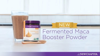 Maca Chocolate Cherry Smoothie with New Chapter® Fermented Maca Booster Powder