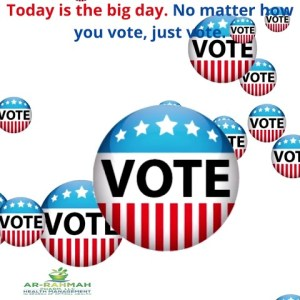 Today is the big day  No matter how you vote, just vote