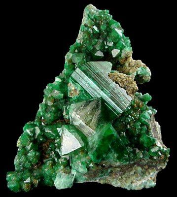 Green Adamite from Tsumeb