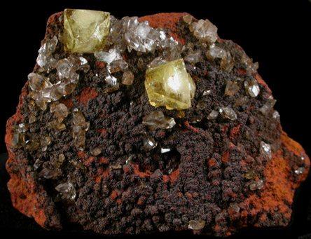 yellow-adamite-crystals