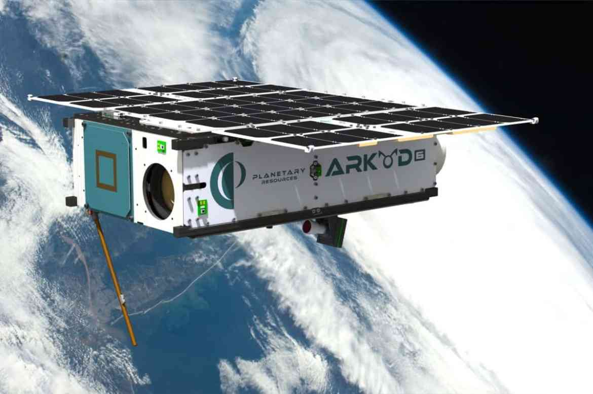 Artist's conception of Arkyd 6 spacecraft in orbit (Credit: Planetary Resources)