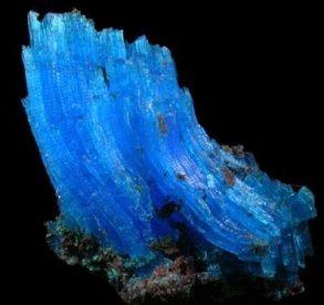 Cristales curvos de Calcantita