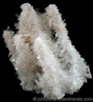 Dedos de cuchillas de cristal de hemimorfita