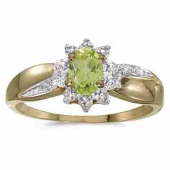 Anillo de peridoto con diamantes_