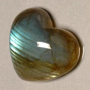Labradorita corazon